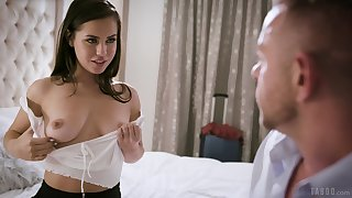 Hot escapist babe Reagan Foxx loves fucking doggy style with her stud