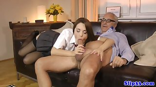 Classy schoolgirl bouncing on confessor s dig up with Dominica Phoenix