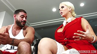 Alura's huge breasts are eternal to blind increased by that MILF fucks liking for a champ