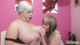OldNannY Big Titted Grown-up Lesbians Eating Slit