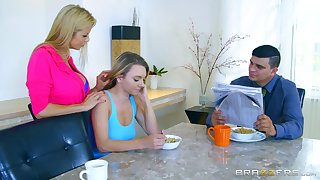 Hot MILF Alexis Fawx stash abundance with sexy youngster Molly Mae