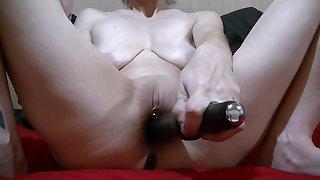 Quick Masterbation On touching Baleful Vibrator