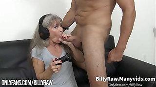 Video Gamer Granny Gets Big Dick-Leilani Lei