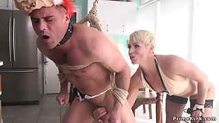 Palmy Hair Girl Mom poolgirl had making love by partyboy