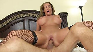 Of age Richelle Ryan in stockings loves to ride immutable shafts