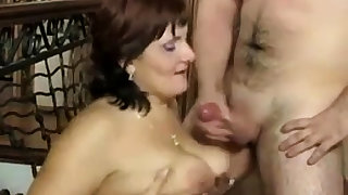 Russian matured Mom and her boy! Amateur!