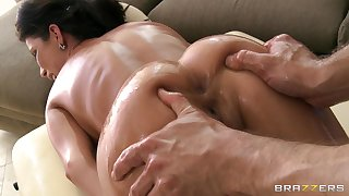 Nice kneading makes Aleksa Nicole horny and she begs for a dick